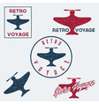 Set of vintage retro grunge aeronautics flight vector