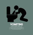 Vomiting person graphic symbol vector