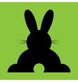 Sitting black back easter bunny vector