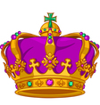 Mardi gras crown vector