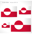 Greenland flag template vector