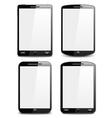 Modern black smart phones vector