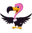 Cute vulture cartoon vector
