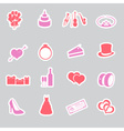 Wedding stickers set eps10 vector