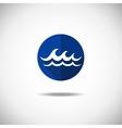 Wave icon vector