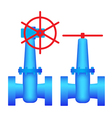 Two images the valves vector