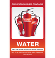 Fire extinguisher colour safety signs vector