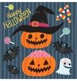 Happy halloween set vector