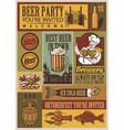 Beer retro set vector