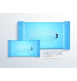 Modern packaging for wet wipes vector