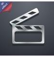 Cinema clapper icon symbol 3d style trendy modern vector