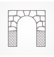 Flat line icon for archway vector