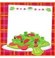 Fresh vegetable salad card vector