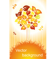 Autumn background - color tree vector