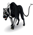 Militant black panther vector