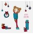 Cute christmas card in vector