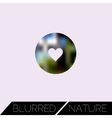 Abstract blurred ui concept with entertainment vector