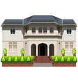 A big house with plants vector