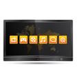 Display smart media tv vector