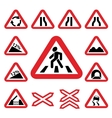 Color traffic auto signs set vector