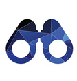 Binoculars icon abstract triangle vector