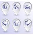 Set of map pins vector