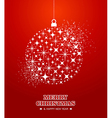 Merry christmas and happy new year stars bauble vector