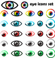 Set of eyes icons and symbols vector