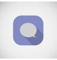 Speech dialog flat icon vector