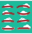 Ribbons and clouds vector