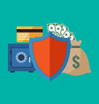 Financial security concept flat design stylish vector