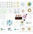Set of various universal company logos vector