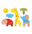 Children africa animals vector