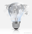 Light bulb with social networking concept vector