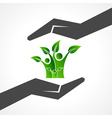 Save eco family concept vector