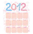 Cute 2012 calendar vector