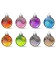 Christmas glass balls vector