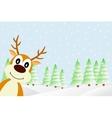 Deer in the winter forest vector