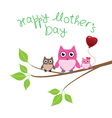 Owl love mom vector