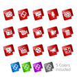 Multimedia stickers vector
