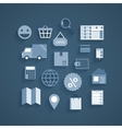 Collection of online shopping pictograms vector