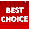 Best choice template vector
