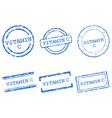 Vitamin c stamps vector