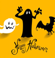 Poster banner or background for halloween party vector