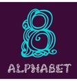 Doodle hand drawn sketch alphabet letter b vector