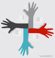 Hands abstract background for design vector