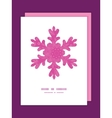 Pink abstract flowers texture christmas snowflake vector