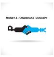 Business partners shaking hands vector