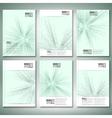 Abstract 3d hexagonal background brochure flyer vector