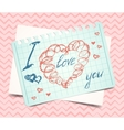 Hearts love valentine background vector